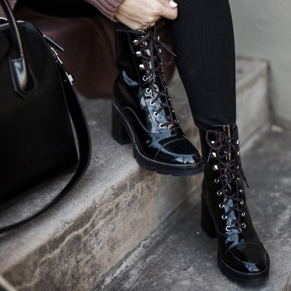 9b724e0356f Marc Fisher Lanie Combat Boot - Patent Leather